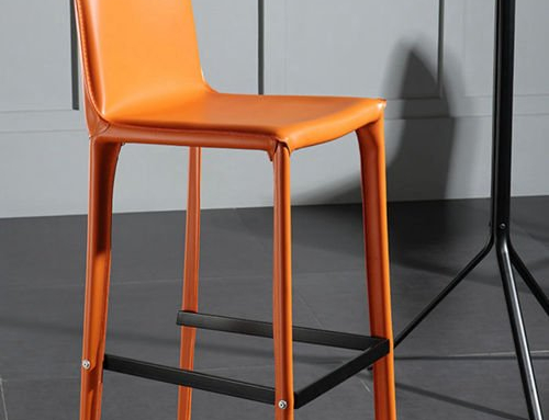 High Back Leather Bar Chair