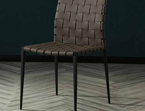 Stripe Leather Dining Chair